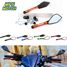 CNC Aluminum 8mm 10mm For Mirrors Motorcycle Rear View view Side Accessories Street Sports Bike Chopper Ruiser Universal