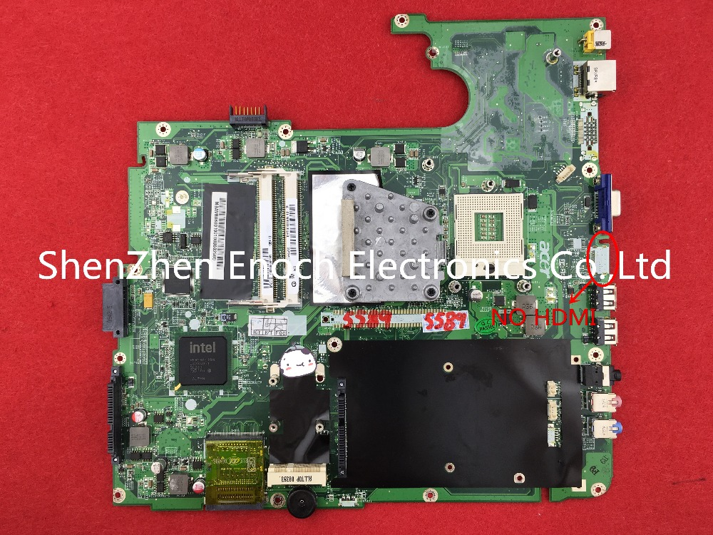 DA0ZY2MB6F1   for ACER aspire 7330 laptop motherboard integrated mainboard GL40 NO HDMI stock No.272 integrated laptop motherboard for 5738 08245 1 jv50 mv mb 48 4cg01 011