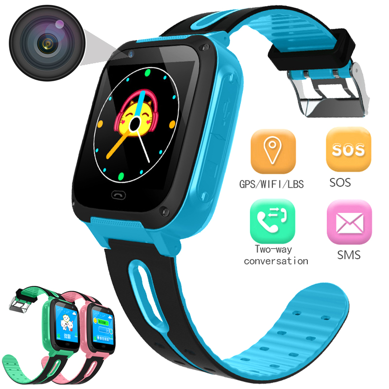 BANGWEI montre connectée Anti-Essentiels perdus pour montres pour enfants couleur del Écran réveil Positionnement Intelligent montre pour enfants Faire appel