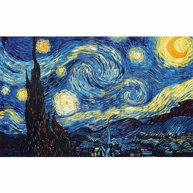 DIY 5D Casa Decoração Diamante Bordado Noite Estrelada de Van Gogh Cross Stitch kits Pintura A Óleo Abstrata Resina Ofício Passatempo
