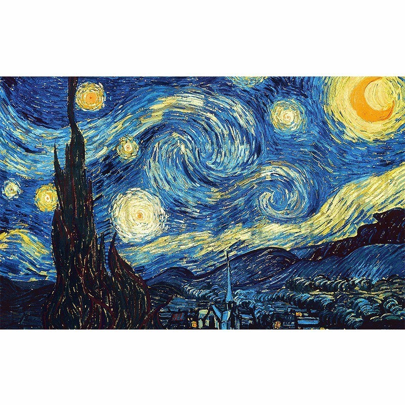 DIY 5D Hause Dekoration Diamant Stickerei <font><b>Van</b></font> <font><b>Gogh</b></font> Starry Night Kreuz Stich kits Abstrakte Ölgemälde Harz Hobby Handwerk image