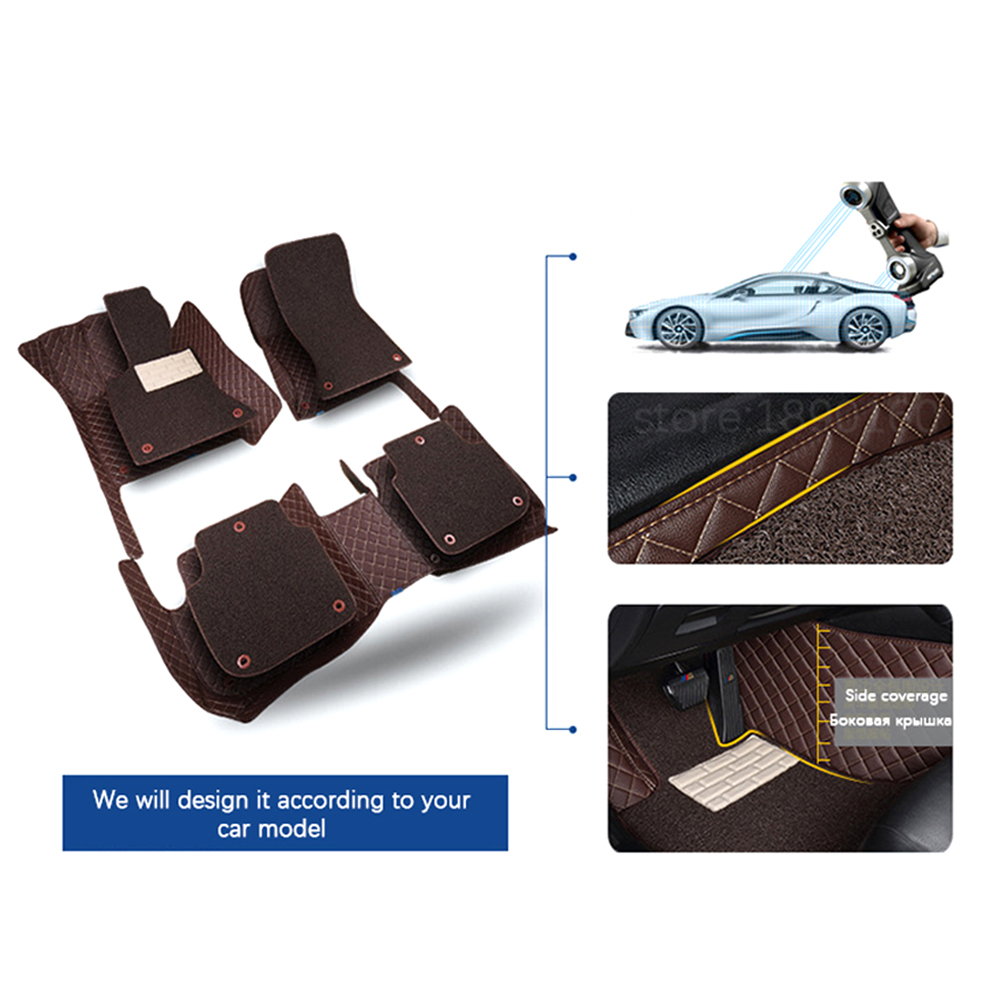 Image 5 - Custom Car Leather Floor Mats for BMW All Models 335i 335i GT xDrive 335i xDrive 335is 335xi 428i Luxury Surround Wire Floor Mat-in Floor Mats from Automobiles & Motorcycles