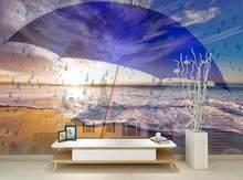 Custom Brick Wallpaper 3D umbrella Creative Mural Wallpaper For The Hotel Office Living Room Bedroom Papel De Parede 3D(China)