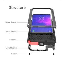 Funda de Metal Love Mei para Samsung Galaxy S8, S9 Plus, Note 8, Note 9, carcasa a prueba de golpes para teléfono, carcasa armadura anticaída resistente de cuerpo completo