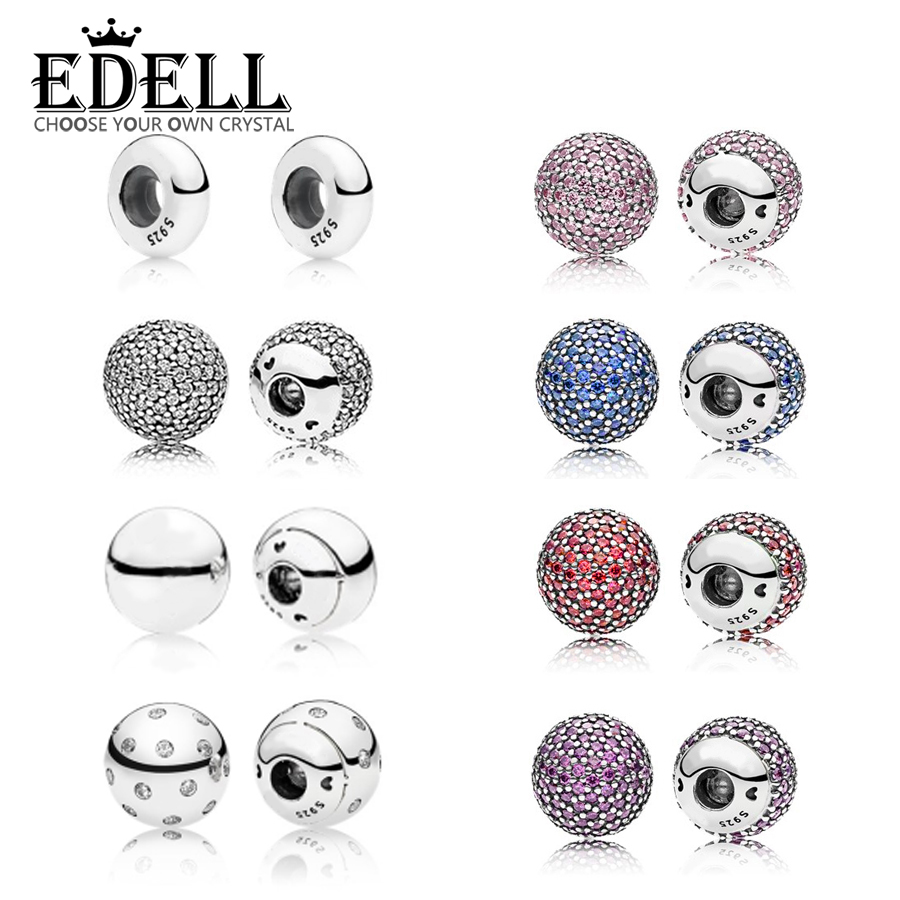 EDELL Authentic 100% 925 Sterling Silver Bracelet & Bangle Single Crystal Ball Chain Head Fit DIY Women Bead Charm With PartsEDELL Authentic 100% 925 Sterling Silver Bracelet & Bangle Single Crystal Ball Chain Head Fit DIY Women Bead Charm With Parts