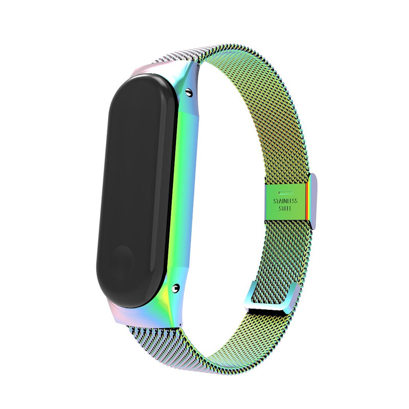 Replacement Mi Band 4 Strap Stainless Steel Watch Band for Xiaomi Mi Band 3 4 Bractlet Accessories Adjustable M3 Wrist Strap