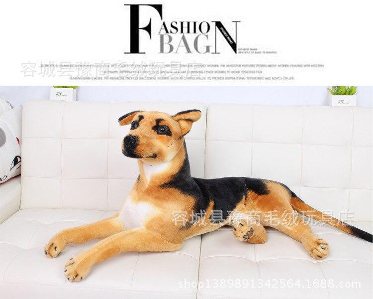 free shipping, prone German Shepherd dog plush toy  large 85cm dog,Christmas gift h455 super cute plush toy dog doll as a christmas gift for children s home decoration 20