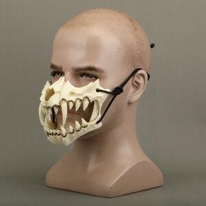 Image 4 - Yeni japon ejderha tanrı maske çevre dostu ve doğal reçine maskesi hayvan tema parti Cosplay hayvan maskesi el yapımı