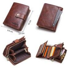 Genuine Leather RFID Vintage Style Men's Wallet