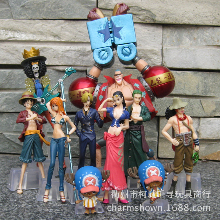 10Pieces One piece Luffy Zoro Chopper nami 2 Years Later Japanese Anime Action Figure PVC New Collection figures toys Collection