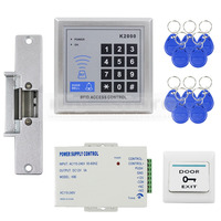DIYSECUR 125KHz RFID Reader Access Control System Full Kit Set + Electric Strike Door Lock + Power Supply