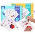 Алфавит/цифра ABC Обучающая книга для ребенка запись/протирание игрушки Карта активности Обучающие игрушки Oyuncak Монтессори Раннее Обучение