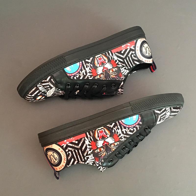 Cuero Encaje Planos Los Animal 1 Mocasines C417 Hombres La 3d Casual Zapatos Moda Impresión Tigre 2 De AqOFgg