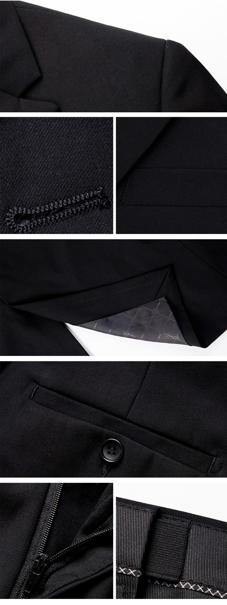 (Kurtka + Spodnie + Tie) luksusowe Mężczyzn Garnitur Mężczyzna Blazers Slim Fit Garnitury Ślubne Dla Mężczyzn Kostium Biznes Formalne Party Niebieski Klasycznej Czerni 23