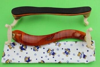 "Wholesale 3 pcs High Quality Flamed Maple Wood Violia  15"" 16"" Adjustable Shoulder Rest Violino Accessories"