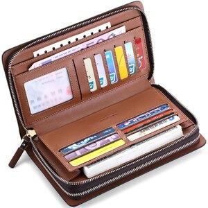 Image 4 - WILLIAMPOLO Marke Mode Hohe Qualität Mens Kupplung Brieftasche Luxus Brieftasche Männer Organizer Brieftasche PL162