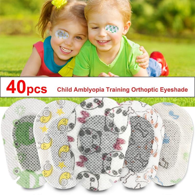 40Pcs Cartoon Amblyopia Eye Patches Colorful Child Amblyopia Training Orthoptic Corrected Eyeshade Occlusion Medical Eye Patch