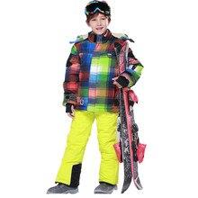 Spodnie Narciarskie dla dzieci Garnitur Kurtka Narciarska Ski Wiatroszczelna Kurtka Outdoor Śnieg Odzież dla Chłopców