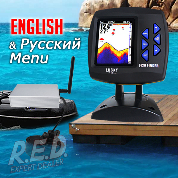 FF918-CWL LUCKY Color Display Boat Fish Finder Wireless Remote Control 300m/980ft Fishing Wireless Operating Range эхолот lucky ff918 180d