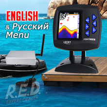 FF918-CWLS LUCKY Color Display Boat Fish Finder Wireless Remote Control 300m/980ft Fishing Wireless Operating Range