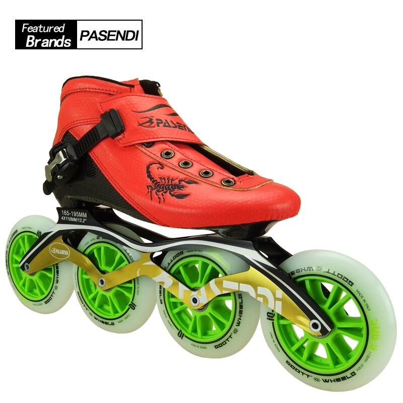 Fibre de carbone chaussures de patinage de vitesse professionnelles femmes/hommes patins à roues alignées chaussures de course chaussures de patinage adulte enfant bottes de patin à roulettes