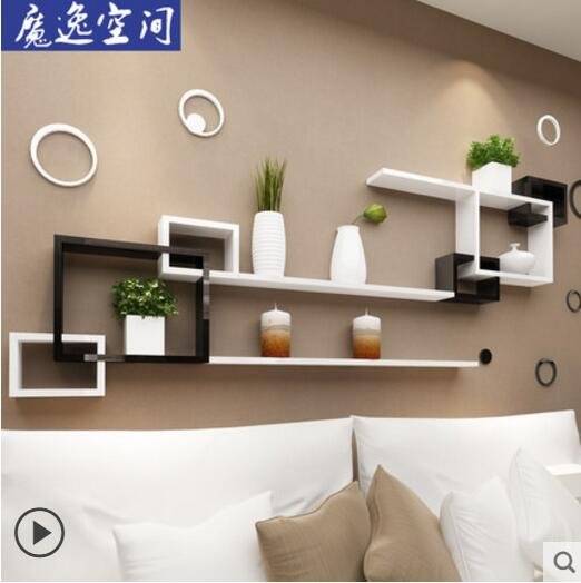 On the wall buy content to wear wall to hang sitting room TV setting wall originality grid is decorated image