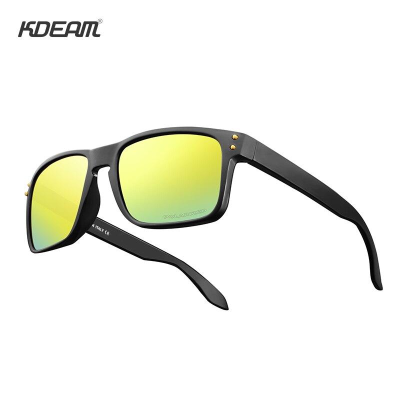 KDEAM Rectangle Polarized Sunglasses Men&Women Legend Design Oculos De Sol Hard Case Included