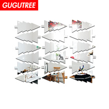 Decorate 18pcs 3D trees art wall mirror sticker decoration Decals mural painting Removable Decor Wallpaper LF-1915