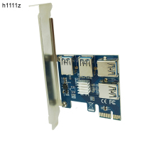 Riser PCI E PCI Express Expansion Card PCIE 1 To 4 Ports USB 3 0 Adapter