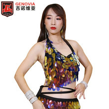 Buikdans Beha Deluxe Little Mermaid Buikdans Kostuum Beha Sexy Hot Ariel Dames Nachtclub DJ Halloween Dancewear Bra Top(China)