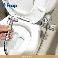 FRAP Bidets new solid brass hot and cold water bidet mixer chrome handheld toilet portable shower set