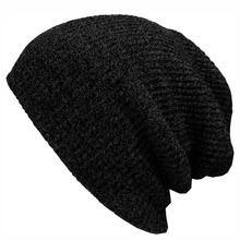 2017 Winter Beanies Solid Color Hat Unisex Plain Warm Soft Beanie Skull Knit Cap Hats Knitted