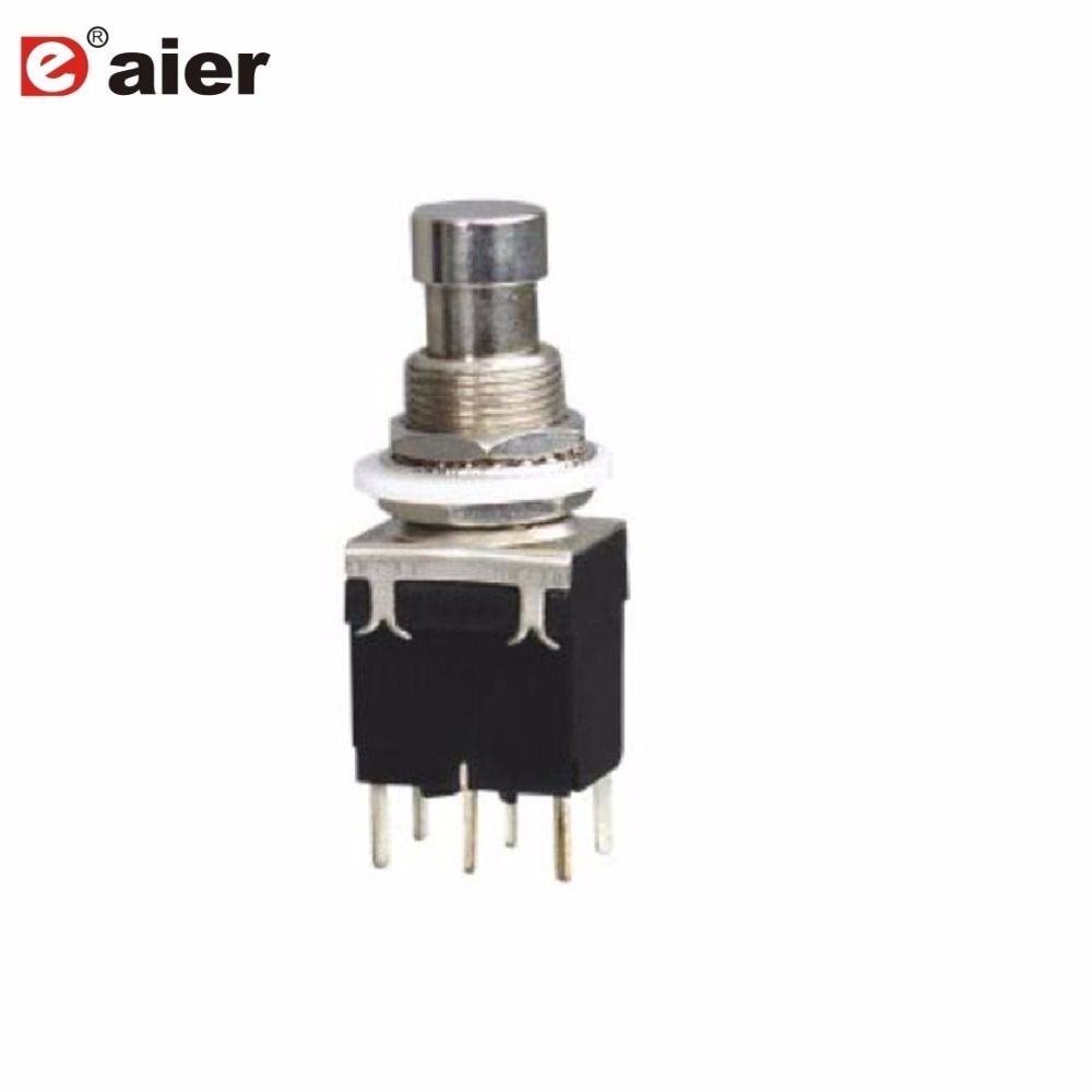 5pcs Lot Dpdt Momentary On Guitar Effect Push Button Stomp Box Switch Wiring Diagram 3pcs Switches 6 Pins Double Pole 12mm Latching Foot