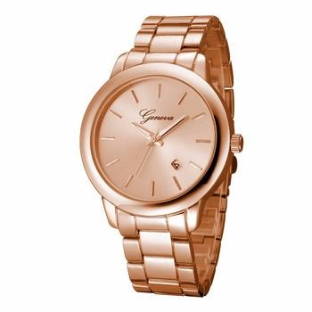 Waterproof Gold&Silver&Rose&Black Hour Clock Luxury Geneva Women Calendar Stainless Steel Quartz Wrist Watch Relojes Mujer дамски часовници розово злато