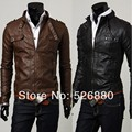 2016 Fall Winter New Fashion Stereo Clipping Motorcycle Leather Jacket Fashion Casual Men Tracksuit jaqueta de couro masculina