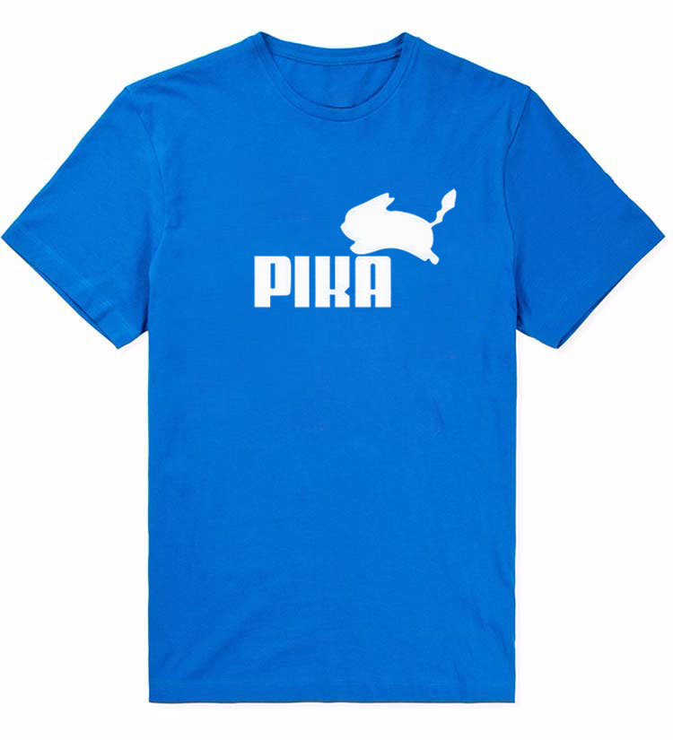 Pokemon Pikachu Pika Puma T-Shirt (10 Color Options)