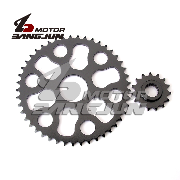 For YAMAHA XG250 Wheel Gear Motorcycle Front & Rear <font><b>Sprocket</b></font> Geartransmission 428 15T/<font><b>48T</b></font> image