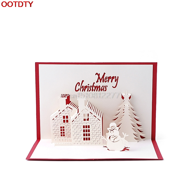 Aliexpress.com : Buy Christmas Card Snowman Handmade 3D Pop Up ...