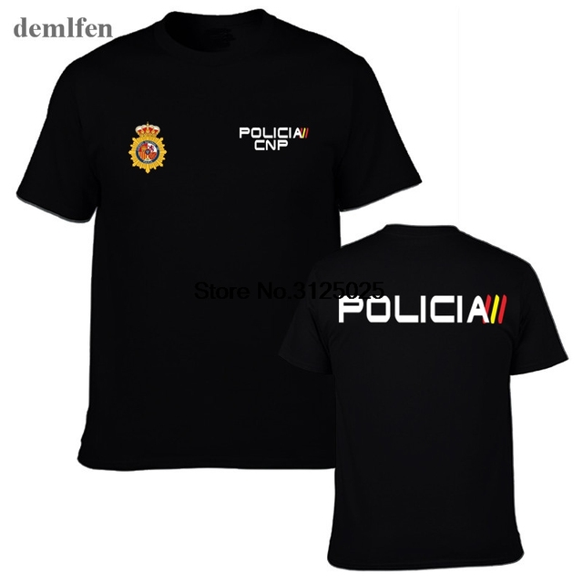 Espana Policia Tây Ban Nha Quốc Gia Cảnh Sát Espana Policia Cnp Uip Upr Chống Bạo Loạn Swat Geo Đi Lực Lượng Đặc Biệt Người Đàn Ông T-Shirt Mát Mẻ tees Top