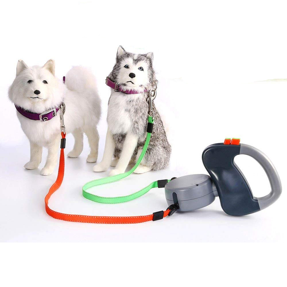 Gomaomi Dual Pet Dog Leash Retractable Walking Leash Pet Products dobbelt snor til hunde