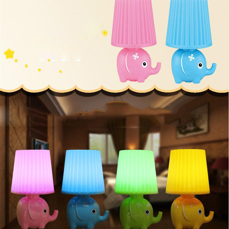Крытый ночник светодиодный датчик света энергии Гнездо слон лампы Indoor спальня ночники творческий детей милый подарок