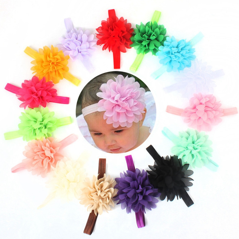 10Pcs Kids Baby Girl Toddler Flower Hair Band Headwear Headband Accessories Cute