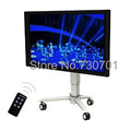 Electric lift horizontal tilting touch-screen LCD TV bracket teaching demonstration video mobile cart business meetings