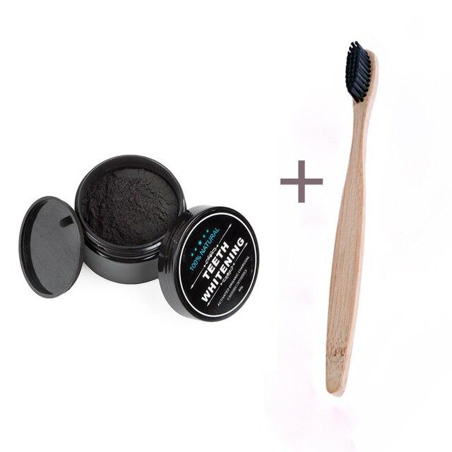 1 Pcs Teeth Whitening Oral Care Bubuk Arang Aktif Alami Pemutih Gigi