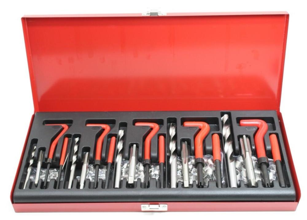 131 Pcs Engine Block Restoring Damaged Thread Repair Tool Kit M5 M6 M8 M10 M12 for