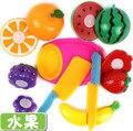 Los niños Del Bebé De Plástico de Cocina Fruta Vegetal De Corte Juguetes Para Niños Juegos de imaginación Juguetes de Cocina Cocinero Cosplay Para Chiledren