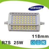 Dhl 무료 배송 10 개/몫 LED R7S 빛 118 미리메터 25