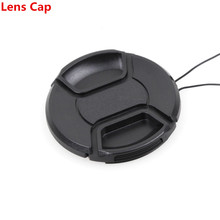 10PCS 49mm 52mm 55mm 58mm 62mm 67mm 72mm 77mm 82mm Camera lens cover Snap On Front Lens Cap/Cover for Canon Nikon+With rope