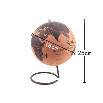 Middle Size Cork Wood Tellurion Globe Maps Globes Home Office Decoration World Map Inflatable Training Geography Map Balloon