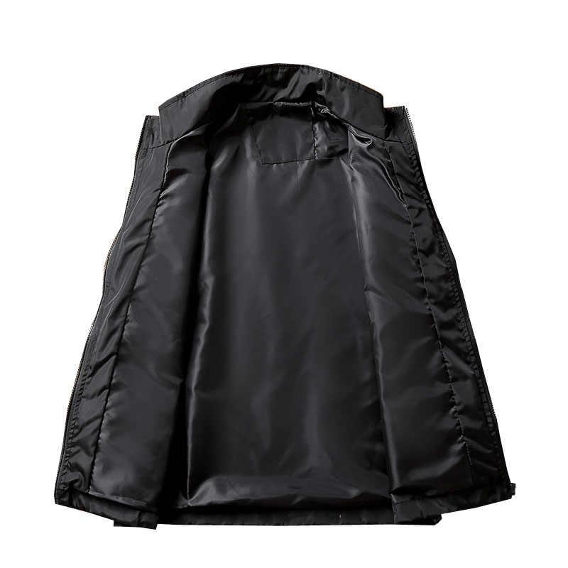 Mferlier 봄 가을 남성 자켓 5xl 6xl 7xl 8xl 9xl 큰 사이즈 긴팔 플러스 사이즈 남성 코트 8 색